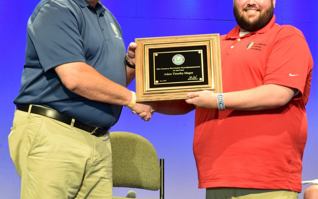 Adam Magee earns National FAA Safety Team Representative of the Year!